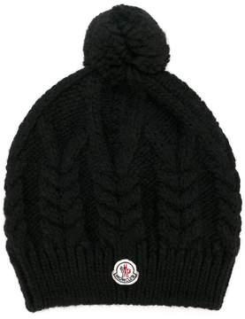 Moncler pompom cable knit beanie