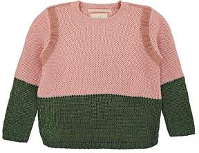Scotch R'Belle KIDS' COLORBLOCKED MIXED-KNIT SWEATER