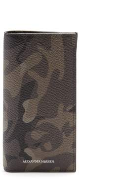 Alexander McQueen Camouflage-print grained-leather wallet