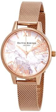 Olivia Burton Abstract Florals White Dial Ladies Watch