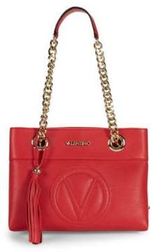 Mario Valentino Logo Leather Shoulder Bag