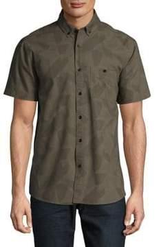 Sovereign Code Printed Short Sleeve Button-Down Shirt
