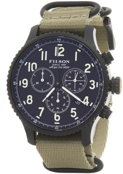Filson Mackinaw Chronograph Field Watch - 43mm, Nylon Strap (For Men)