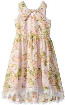 Us Angels Floral Chiffon Dress Girl's Dress