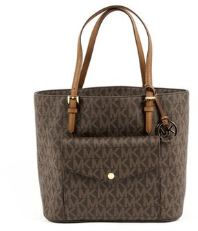 Michael Kors Womens Handbag Jet Set Item. - BROWN - STYLE