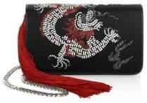 Les Petits Joueurs Embellished Satin Crossbody Bag