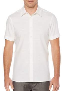 Perry Ellis Cotton Button-Down Shirt