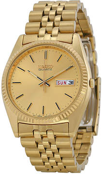 Seiko Day and Date Dress Gold-tone Stainless Steel Men's Watch
