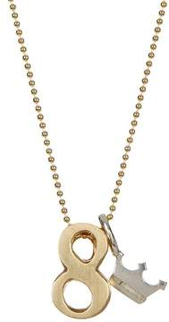 Alex Woo 14K Yellow Gold & Sterling Silver Little Number '8' Pendant Necklace