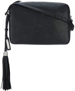 Saint Laurent small Monogram Lou camera bag - BLACK - STYLE