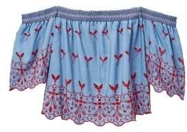 Violeta BY MANGO Off shoulder denim blouse