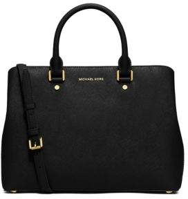 MICHAEL Michael Kors Savannah Large Leather Satchel - OYSTER - STYLE