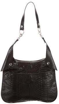 Tod's Leather-Trimmed Python Bag