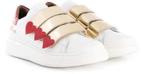 Simonetta triple strap trainers
