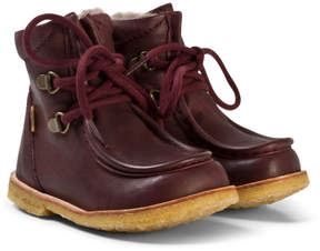 Bisgaard Plum Lace-Up Boots