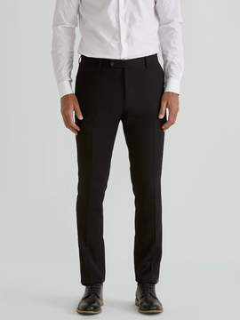 Frank and Oak The Laurier Textured Stretch-Wool Suit Trouser in Black