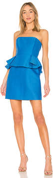 Halston Strapless Dress With Peplum