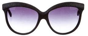Italia Independent Glitter Cat-Eye Sunglasses w/ Tags