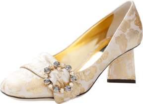 DOLCE & GABBANA Jacquard Pyramid Heels