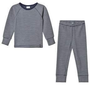 Mini A Ture Blue Nights Striped Pyjama Set