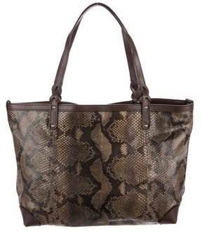 Gucci Python Craft Tote - BROWN - STYLE