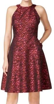 Calvin Klein Womens Printed Sparkle Party Dress