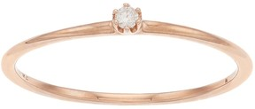 Lauren Conrad 10k Rose Gold Diamond Accent Ring