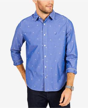 Nautica Men's Sailboat Print Classic Fit Shirt