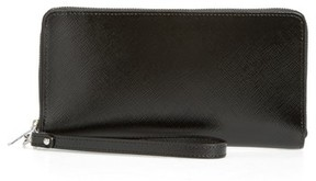 Nordstrom Women's Leather Zip Around Wallet - Black
