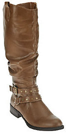 White Mountain As Is Lexi Riding Boots w/ Strap & Stud Details