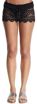 Pilyq Lexi Embroidered-Lace Coverup Shorts