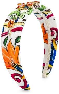 Dolce & Gabbana embellished printed headband