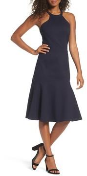 Adelyn Rae Women's Halter Ponte Midi Dress