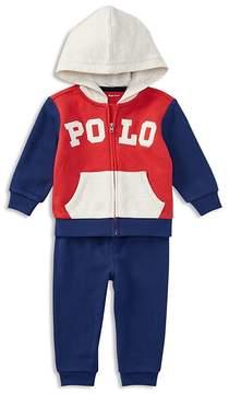 Ralph Lauren Boys' French Terry Zip-Up Hoodie & Sweatpants Set - Baby