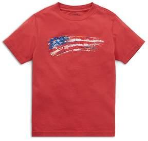 Polo Ralph Lauren Boys' Jersey American Flag Tee - Little Kid