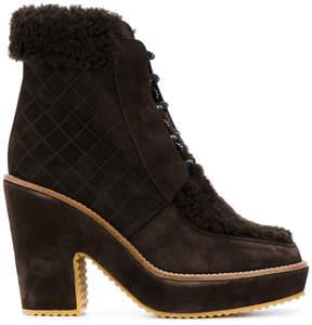 Castaner shearling trim platform boots