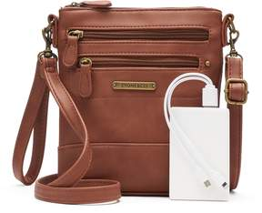 Co Stone & Plugged In Phone Charging Leather Convertible Crossbody Bag