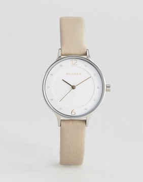 Skagen SKW2648 Anita Leather Watch In Gray