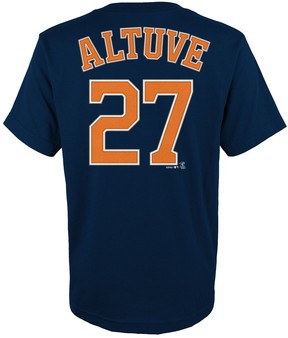 Majestic Boys 4-18 Houston Astros Jose Altuve Player Name and Number Tee