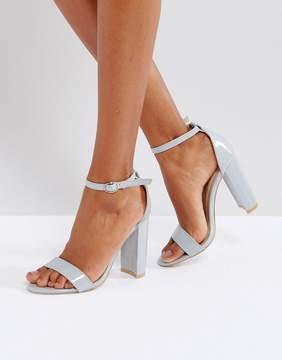 Glamorous Barely There Block Heeled Sandals
