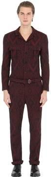 Christian Pellizzari Stretch Cotton Jacquard Jumpsuit