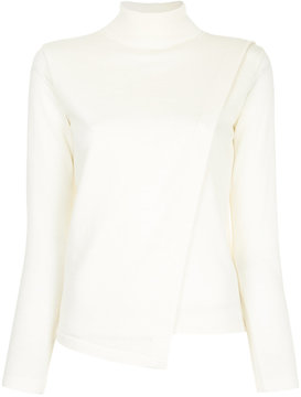 EN ROUTE asymmetric turtleneck pullover