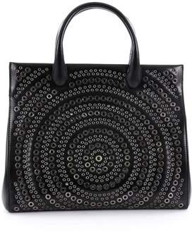 Alaia Pre-owned: Snap Tote Grommet Embellished Leather Medium.