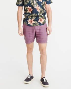 Abercrombie & Fitch Linen Plainfront Shorts