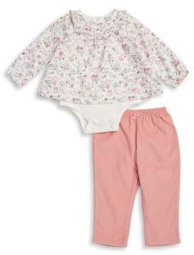 Absorba Baby Girl's Two-Piece Cotton Tunic Bodysuit and Pants Set