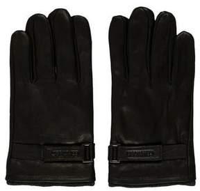 Calvin Klein Leather Logo Gloves