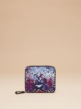 Diane von Furstenberg Small Printed Zip Around Wallet