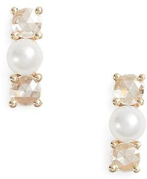 Ef Collection Women's Mini Pearl & Diamond Stud Earrings