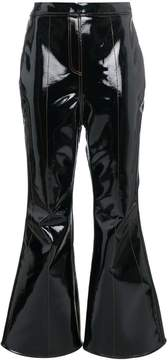 Ellery high waisted cropped flared trousers