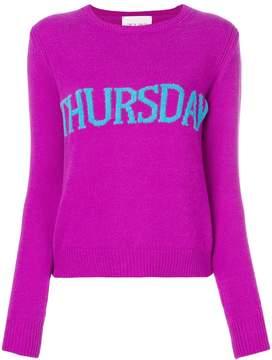Alberta Ferretti Thursday intarsia jumper